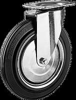 Колеса поворотные из литой резины с металлическим диском