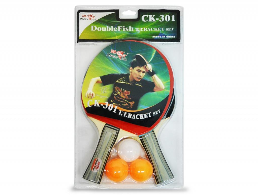 Набор DOUBLE FISH: 2 ракетки, 3 мяча - СК-301