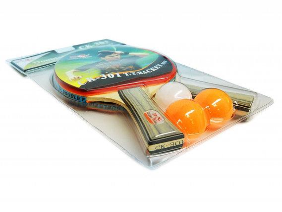 Набор DOUBLE FISH: 2 ракетки, 3 мяча - СК-301, фото 2