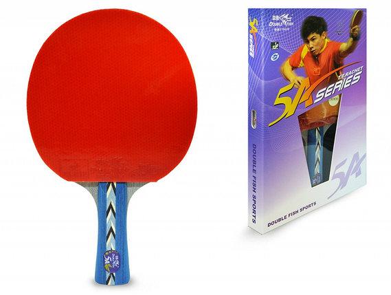 Ракетка для настольного тенниса DOUBLE FISH - 5А-С (ITTF), фото 2
