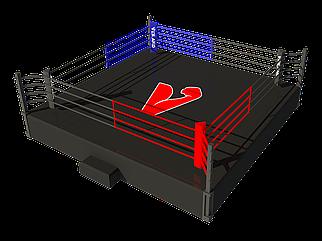 Боксерский ринг на помосте 5х5 м (боевая зона 4х4 м), помост 0,5 м