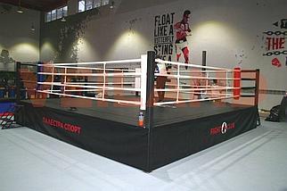 Боксерский ринг на помосте 6х6 м (боевая зона 5х5 м), помост 0,5 м