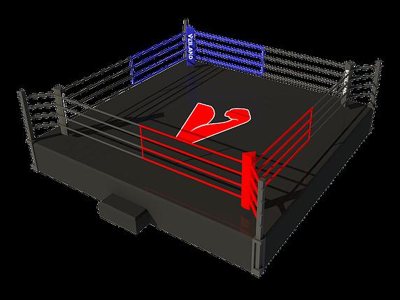 Боксерский ринг на помосте 6х6 м (боевая зона 5х5 м), помост 0,5 м, фото 2