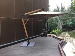 Зонт Wood Lux, 3х3м, квадратный, бежевый, фото 3
