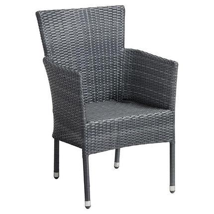 Кресло-стул плетенный из ротанга с подушками (коричневый), фото 2