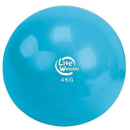 Медбол 4кг 1704LW, голубой, фото 2