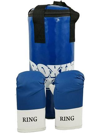 Набор боксерский ЮНИОР (мешок 45см, перчатки тренировочные), фото 2