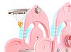 Детская горка-розовая с качелей, фото 2
