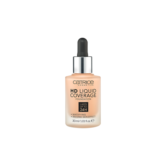 Тональная основа Catrice HD Liquid Coverage Foundation тон 030 Sand Beige