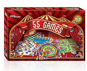 """Настольные игры для взрослых и детей Step Puzzle """"55 Games"""""""