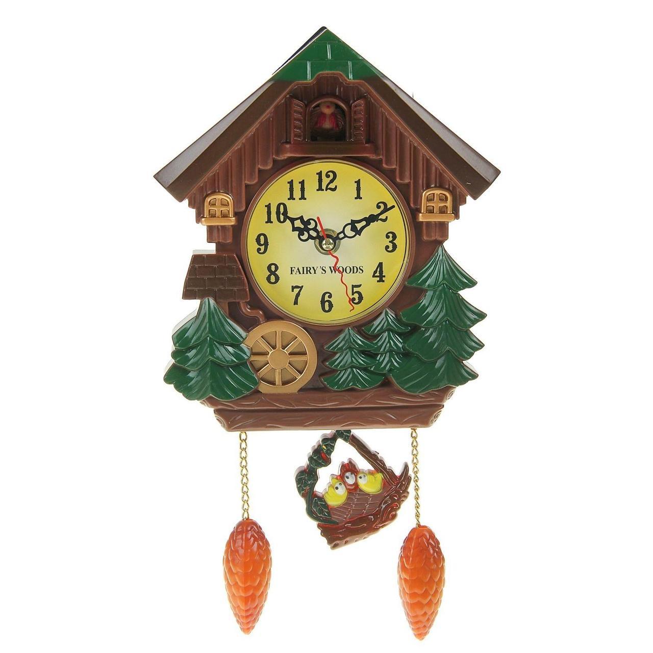 Новогодние часы на стену с кукушкой