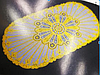 Овальная салфетка с золотым декором 83х40 см, фото 3