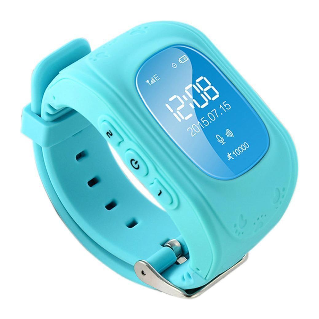 Детские смарт-часы Q50 с GPS, цвет голубой