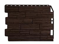 Фасадные панели Скол Коричневый 795х595 мм Дачные FINEBER