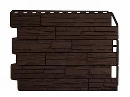 Фасадные панели Скол Коричневый 795х595 мм (0,41 м2) ДАЧНЫЙ  FINEBER