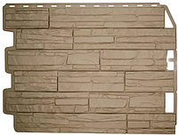 Фасадные панели Скол Бежевый 795х595 мм Дачные FINEBER