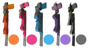 Лента для растяжки пилатеса и стрейчинга (цвет фиолетовый), фото 2