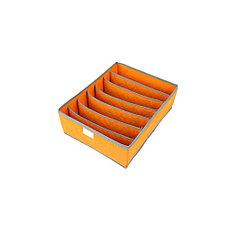 Органайзер для нижнего белья с крышкой 7 отделений оранжевый, фото 3