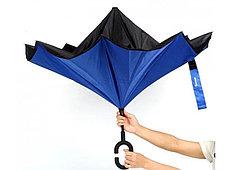Умный зонт Наоборот, цвет красный + черный, фото 2