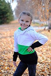 Толстовка удлиненная  с капюшоном детская, от 2х до 5 лет