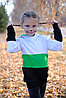 Толстовка удлиненная  с капюшоном детская, от 2х до 5 лет, фото 3