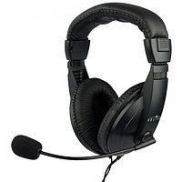 Наушники с микрофоном Oklick HS-M137V черный 1.8м мониторные
