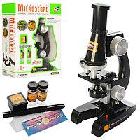 Микроскоп детский в комплекте с пробирками и предметными стеклами 450x.