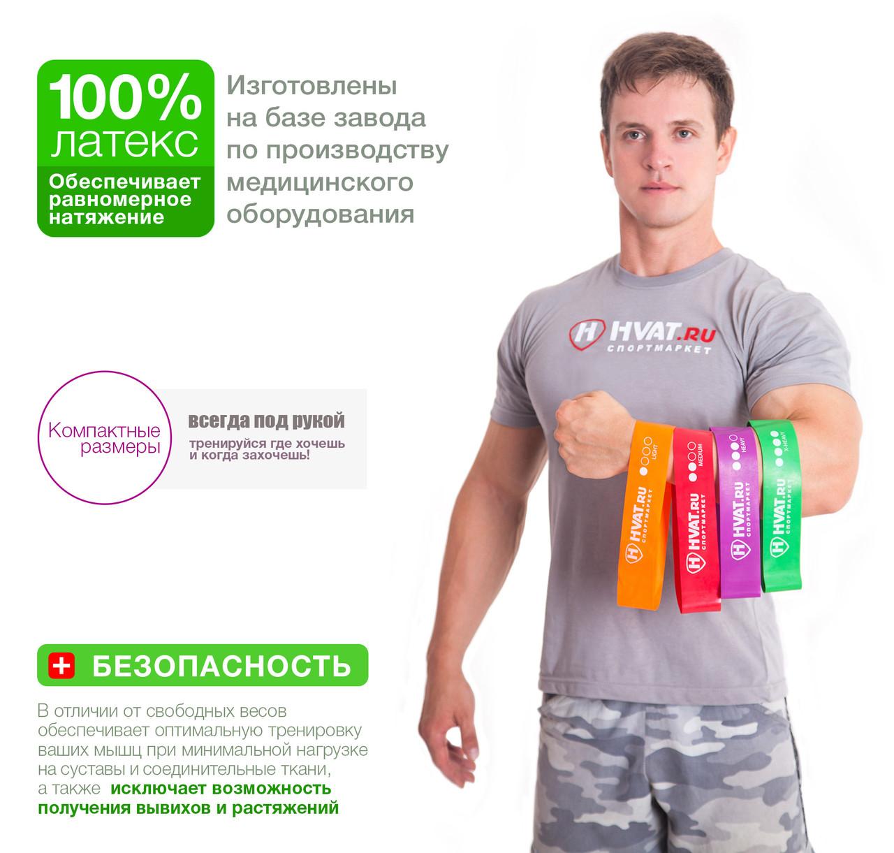 Набор резинок эспандеров для фитнеса HVAT. (Мини-петли) для фитнеса, набор в чехле - фото 3
