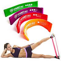 Набор резинок эспандеров для фитнеса HVAT. (Мини-петли) для фитнеса, набор в чехле