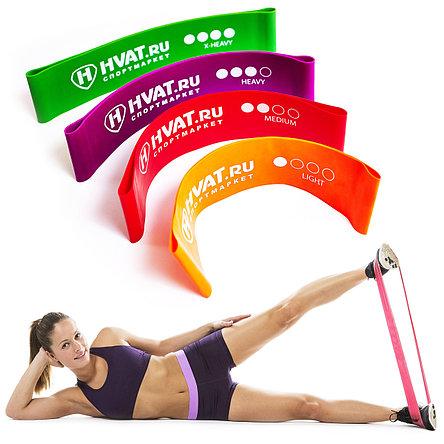 Набор резинок эспандеров для фитнеса HVAT. (Мини-петли) для фитнеса, набор в чехле, фото 2