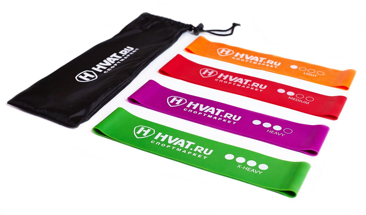 Набор резинок эспандеров для фитнеса HVAT. (Мини-петли) для фитнеса, набор в чехле - фото 4
