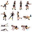 Набор резинок эспандеров для фитнеса HVAT. (Мини-петли) для фитнеса, набор в чехле, фото 3