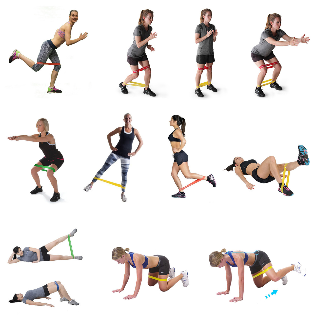 Набор резинок эспандеров для фитнеса HVAT. (Мини-петли) для фитнеса, набор в чехле - фото 7