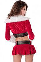 Новогодний костюм Санты (юбка, топ + манжеты на ноги), фото 2