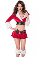 Новогодний костюм Санты (юбка, топ + манжеты на ноги), фото 3