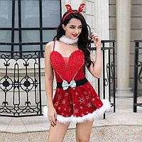 "Костюм ""SEXY CHRISTMAS GIRL"" (платье, ободок, воротник), фото 4"