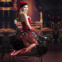 Рождественское платье + чулки, перчатки, шапка, фото 2