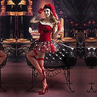 Рождественское платье + чулки, перчатки, шапка, фото 3