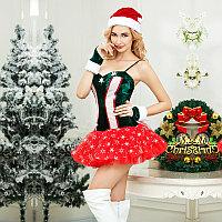 Новогодний костюм Snowflake (шапочка, перчатки, платье, стринги), фото 3