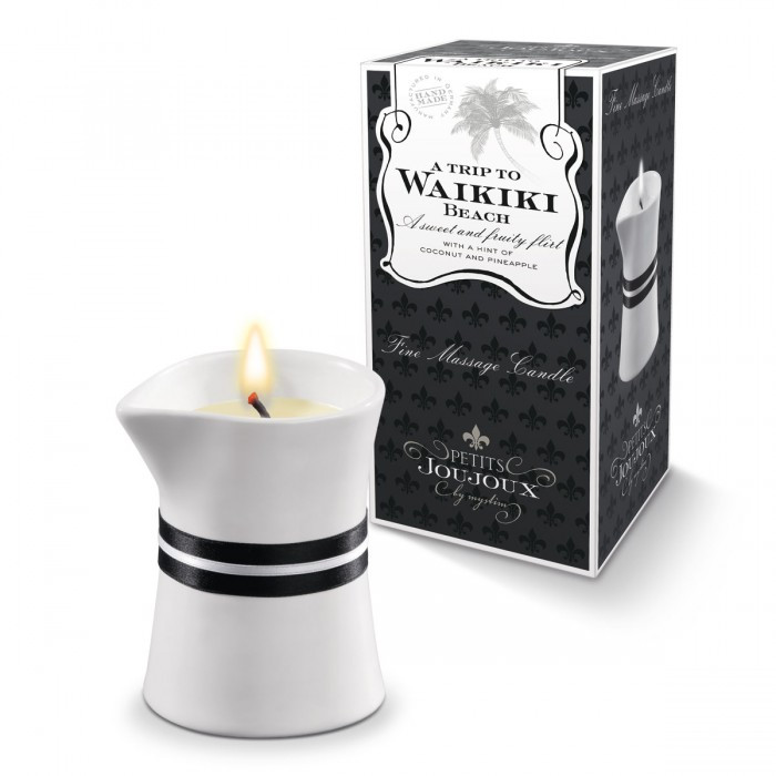 PETITS JOUJOUX Массажная свеча WAIKIKI BEACH пина колада 120 гр.