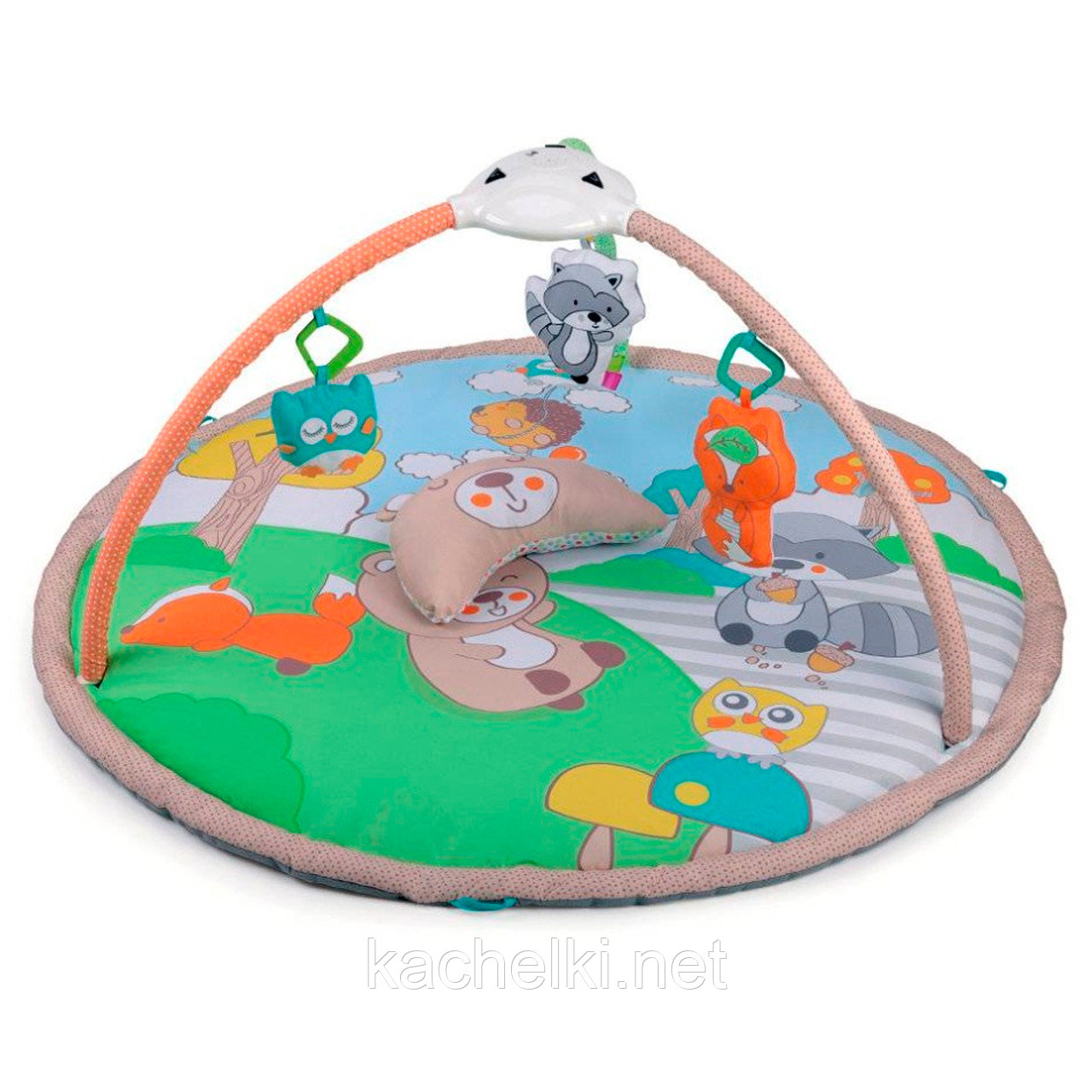 "Развивающий коврик ""Дружба"" с проектором, 6 мел., свет, игрушки Konig Kids"