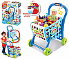 Детская тележка для супермаркета с продуктами 008-903