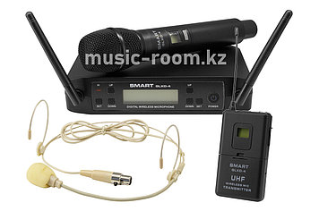 Головной микрофон радио+ручной Smart GLXD-4ST