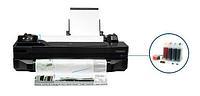 Плоттер HP Designjet T120 с СНПЧ и чернилами (Уценка)