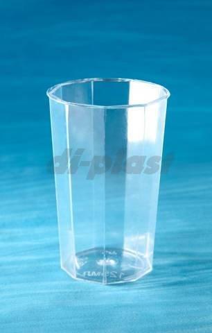 Стакан д/хол., 0.25л, октогон, прозрачн., кристалл, ПС, 19 шт