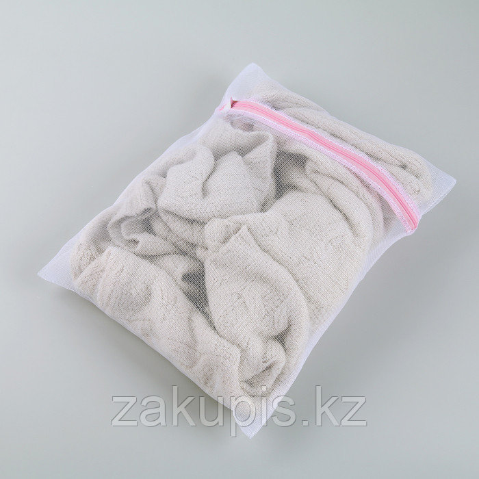 Мешок для стирки, 30×40 см, мелкая сетка - фото 3