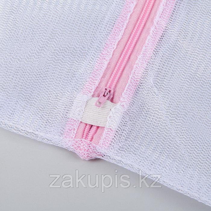 Мешок для стирки, 30×40 см, мелкая сетка - фото 6