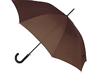 Зонт-трость полуавтоматический, коричневый