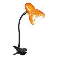 Настольная лампа CLIP 1x40Вт E14 R50 оранжевый 28x34см
