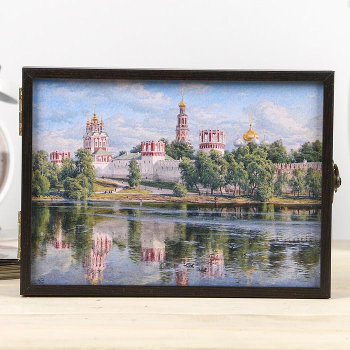 """Ключница """"Новодевичий монастырь"""" декабокс 19х14 см  венге"""